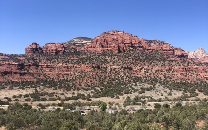 red rocks during a sedona retreat